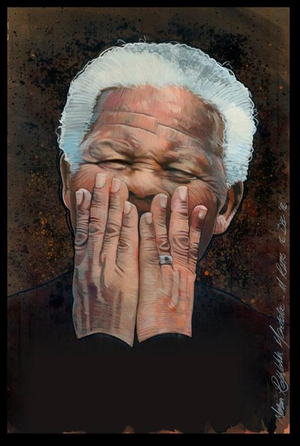 Portrait of Nelson Mandela - Image courtesy of Mark Raats