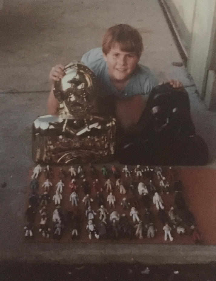 Dwayne Smith and his vintage Kenner wares.