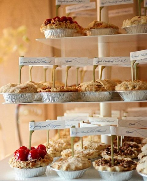 How cute is this mini pie display? Credit here