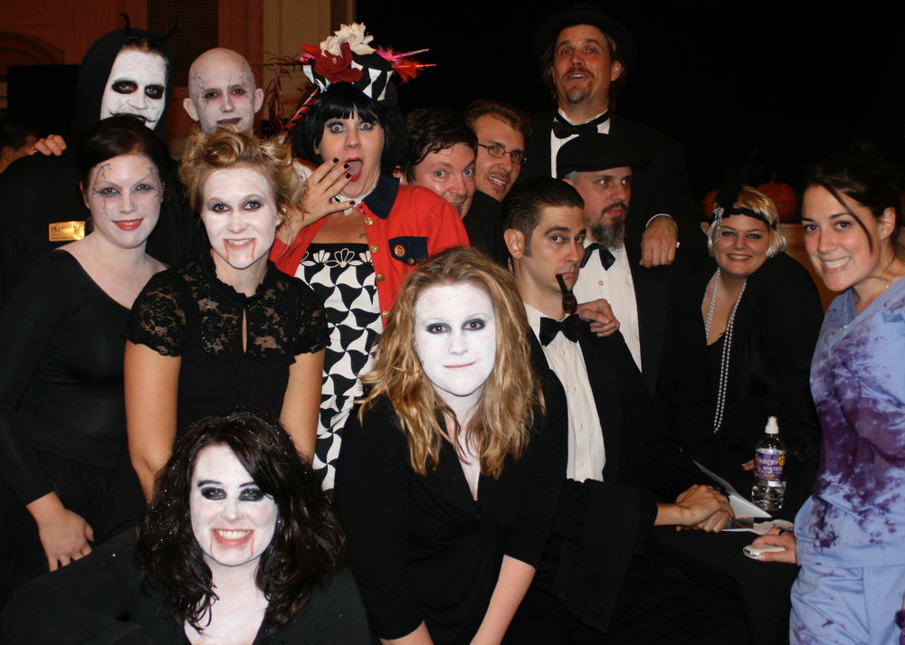 The Bureau of Cultural Affairs staff with the cast of White Ghost Shivers