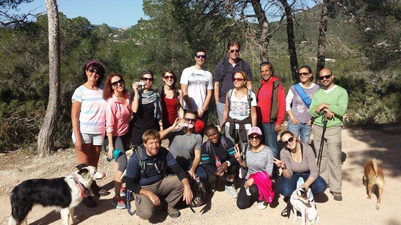 "ABLA Ibiza doing hiking with ""WALKING Ibiza"""