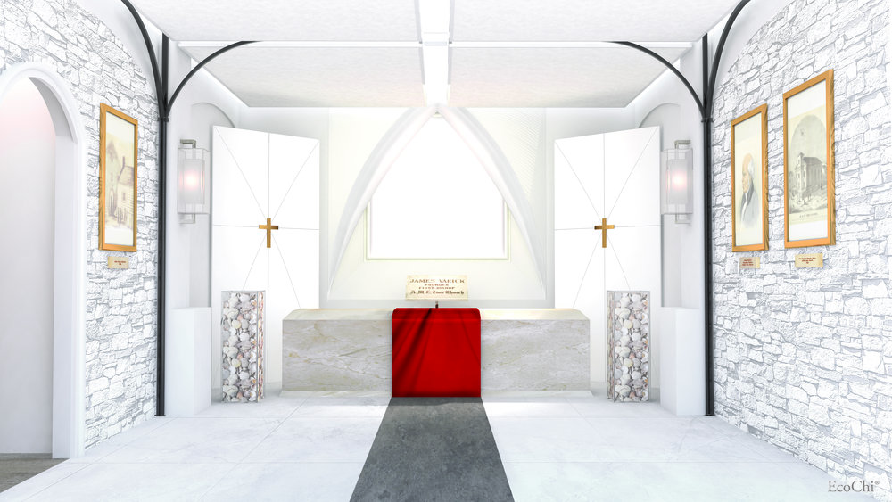 MOTHER AFRICAN METHODIST EPISCOPAL ZION CHURCH VAULT & ROOM OF PRAYERS