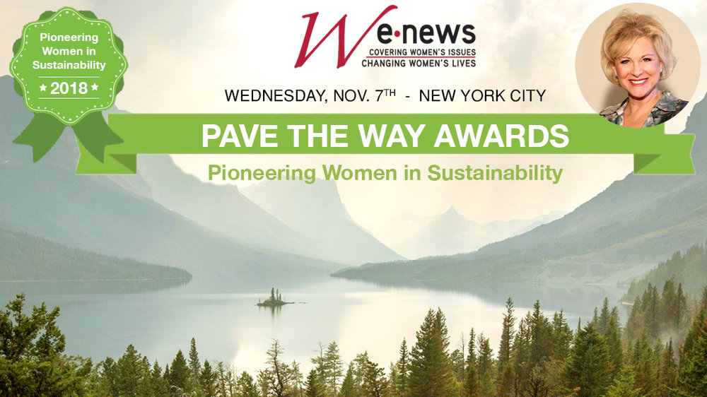 """""""Pioneering Women in Sustainability 2018"""" - Speaker & Honoree, Debra Duneier, EcoChi President- Wednesday, November 7th, 2018, Cocktails: 6:30pm Dinner & Awards: 7:15pm- At Club 101 (101 Park Ave @ 40th Street- Hosted by Women's eNews, the 2018 Pave the Way Awards will honor EcoChi President, Debra Duneier as a Pioneering Woman in Sustainability."""