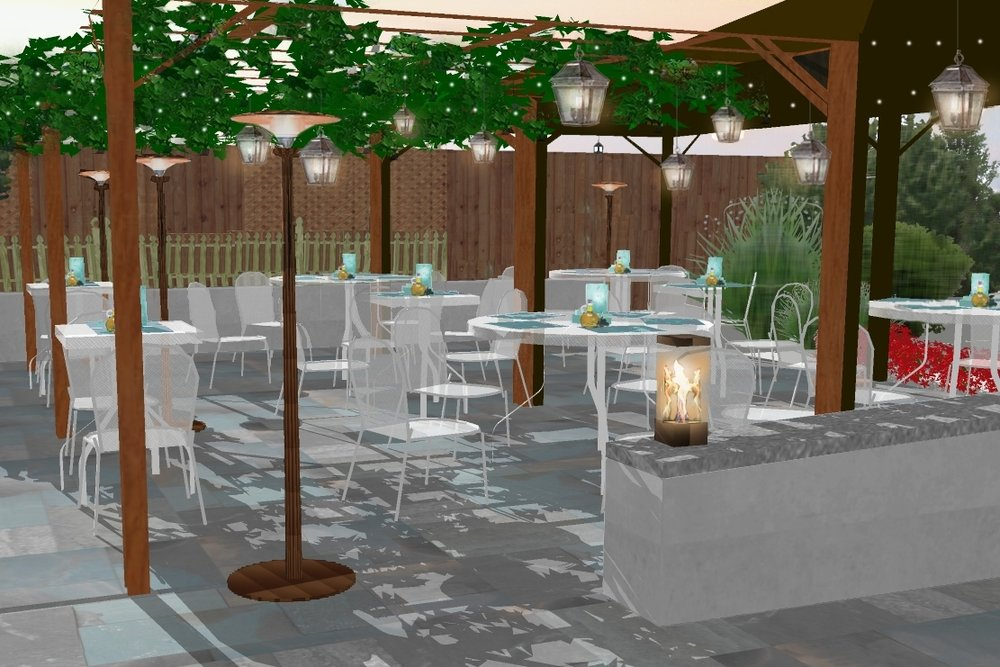 Outdoor Dining Area - Positano Ristorante -Westport, CT