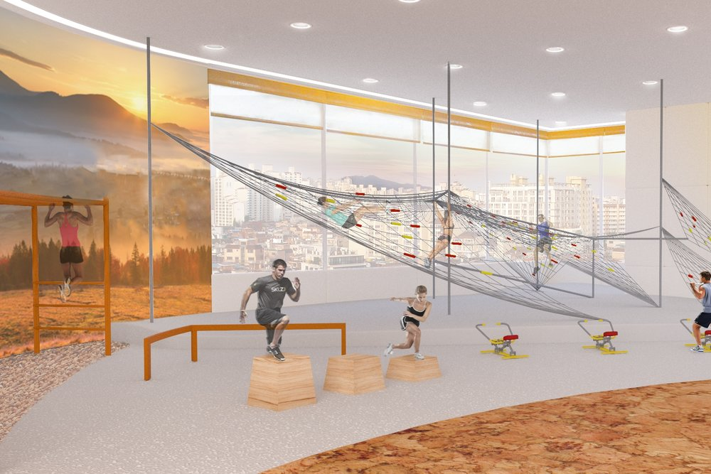 Fitness Center - Can a Fitness Center Inspire Play? -Seoul, KR