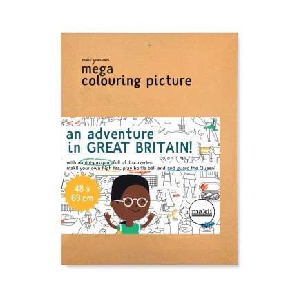 Makii - Mega Colouring Picture: Great Britain