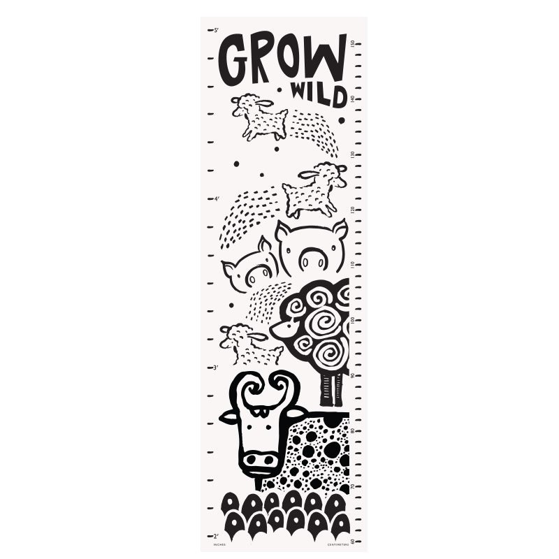 Wee Gallery - Canvas Growth Chart: Farm