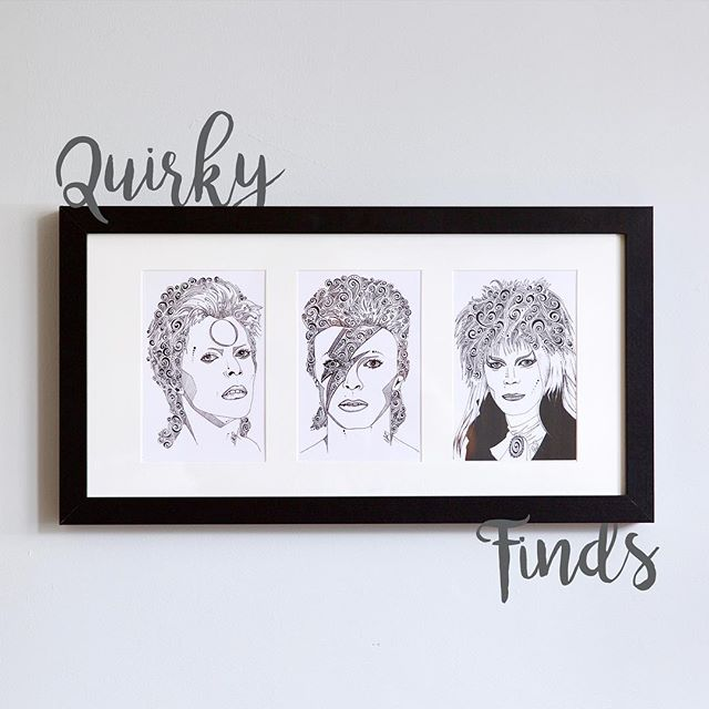 Are you a fan of the unusual & brilliant?  Love this BOWIE trio by the amazing @nattynoodles?  Check out the Cream Teams Quirky Finds now... • link in bio •