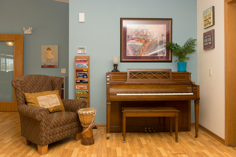 Piano at the Homestead Living seniors home