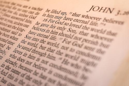 John 3:16 (Photo by  James Coleman on  Unsplash
