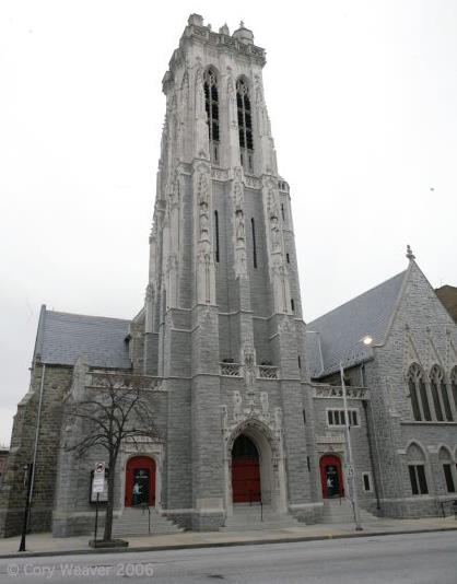 Emmanuel's exterior, seen from Cathedral Street.