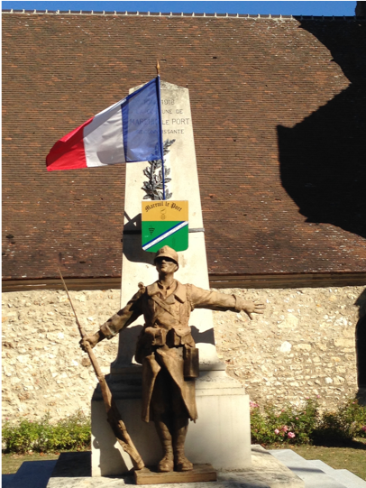 Memorial at Mareuil le Port, Champagne-Ardennes