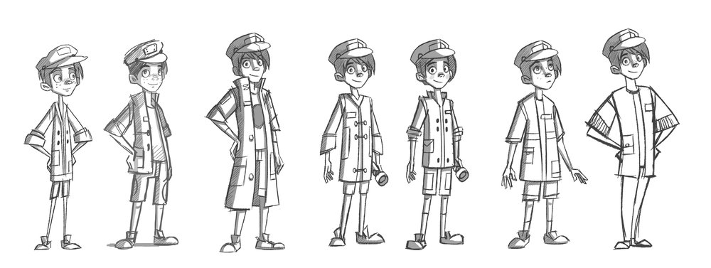 Tom Rivers character design concepts