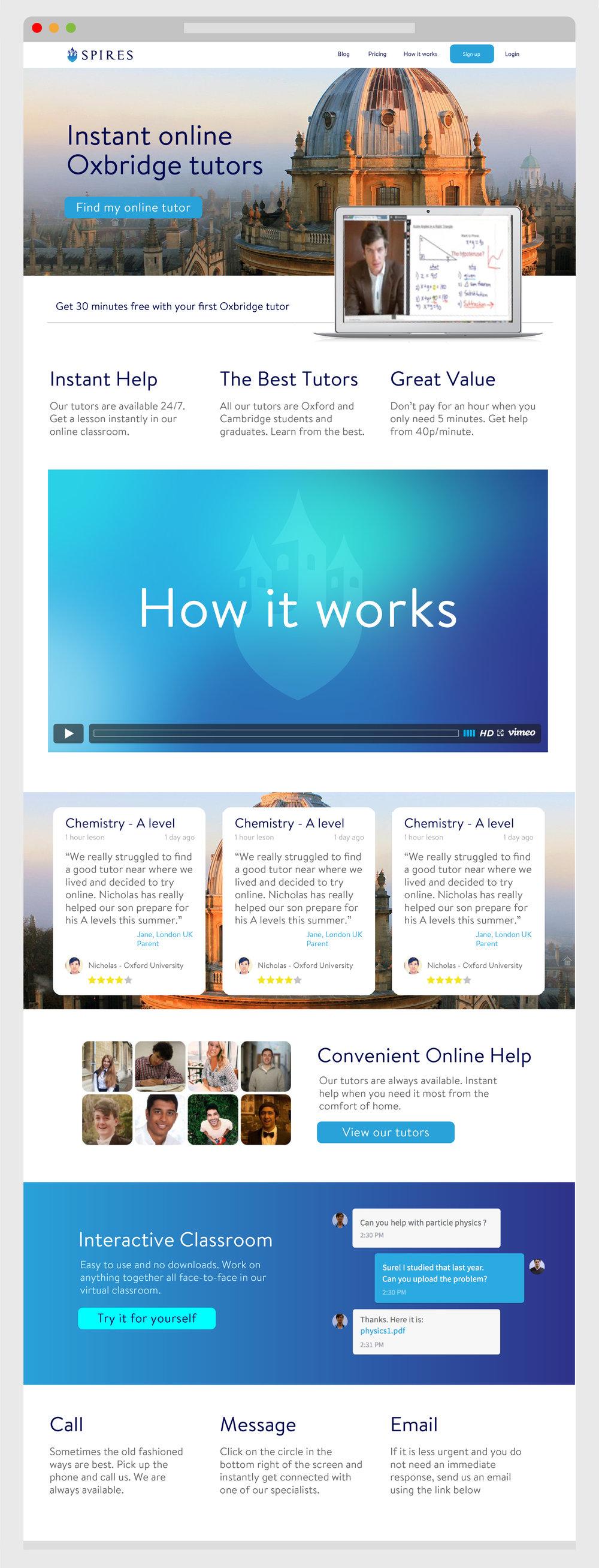 Spires web design