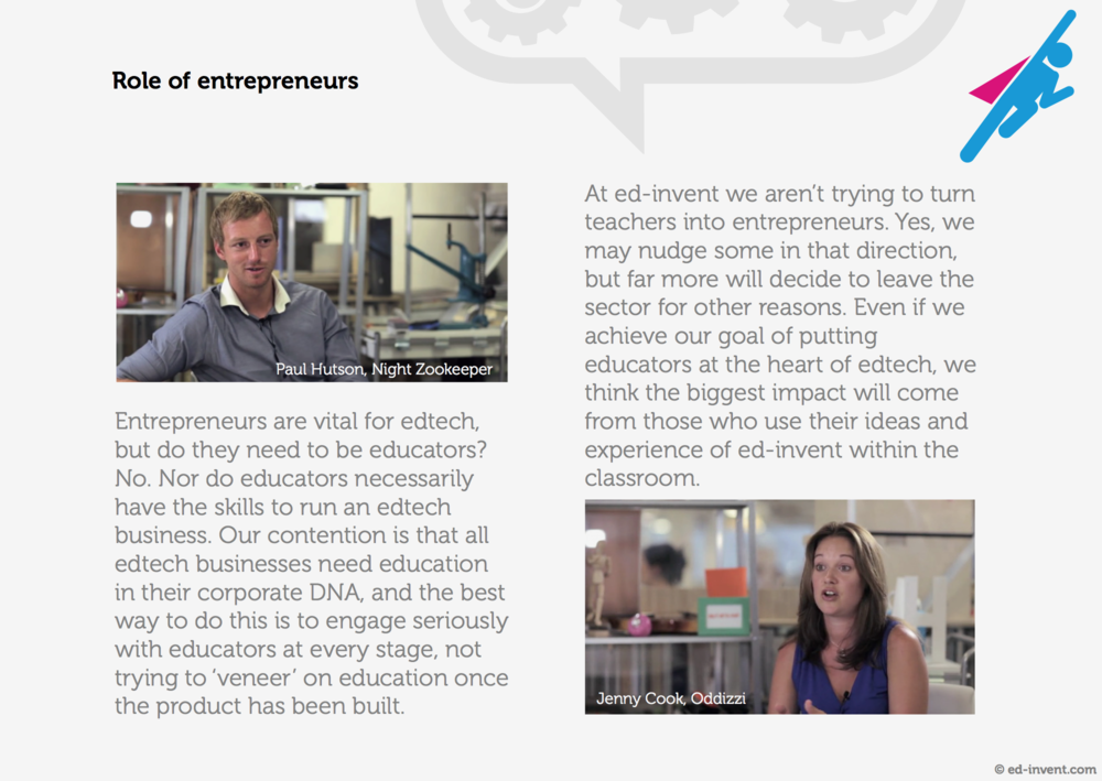 Sample page from the Ed-Invent brochure