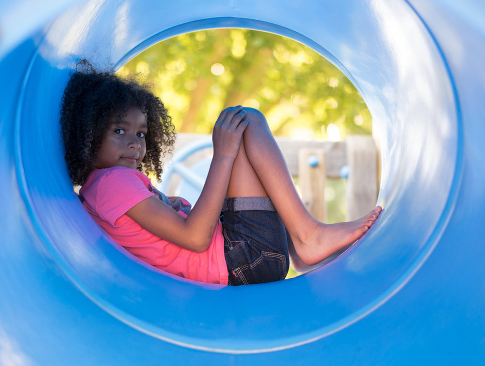 girl inside play structure-Danville lifestyle photos