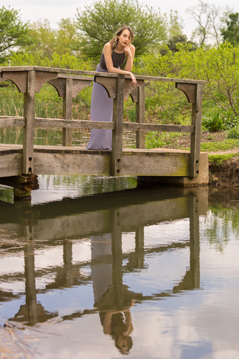 teen girl on bridge-Walnut Creek CA senior photographer