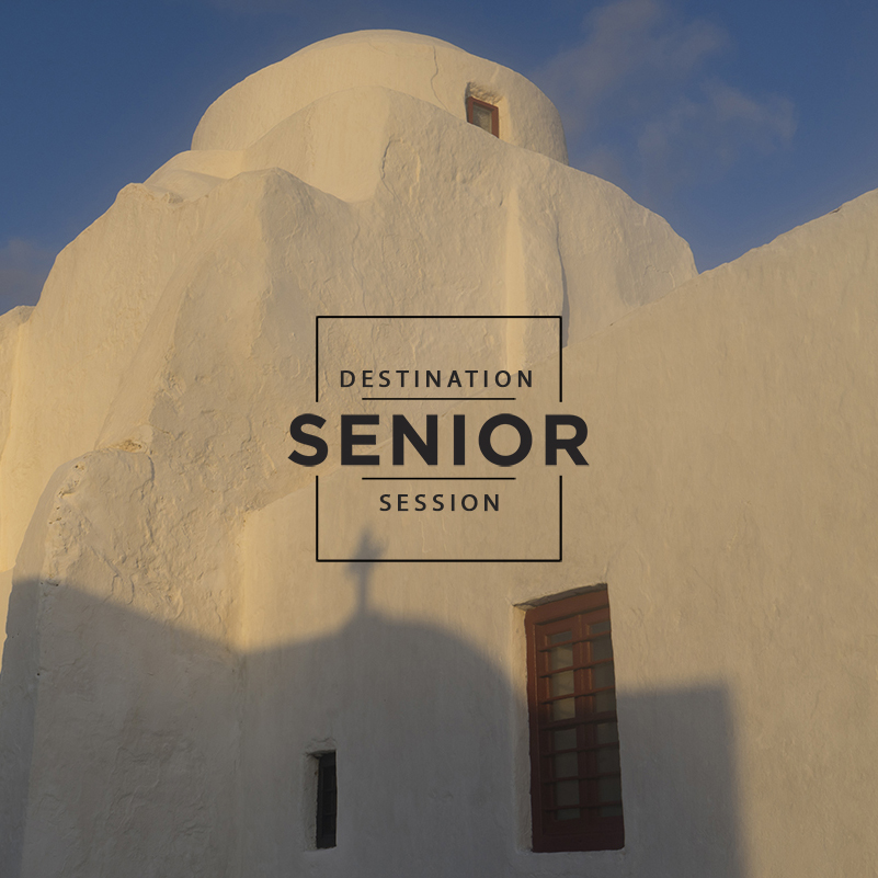 Mykonos Greece - destination senior photography