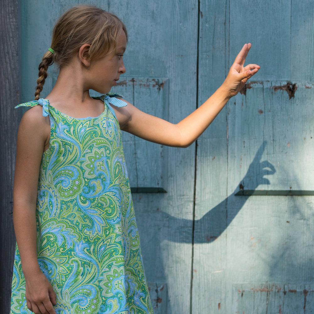 girl with blue door - Oakland children's photography