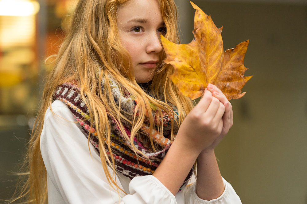 tween girl in autumn - SF Bay area lifestyle photography