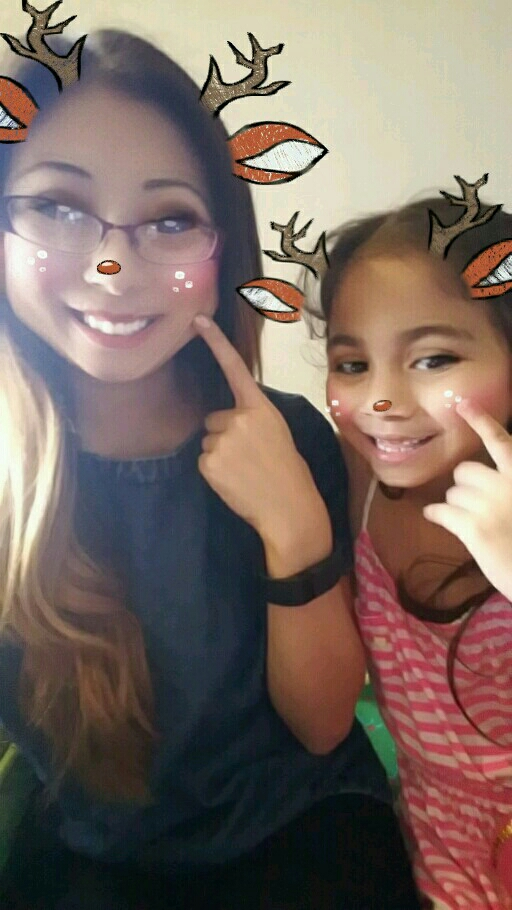 Playing with Snapchat filters with my six year old cousin! Gotta start em early.