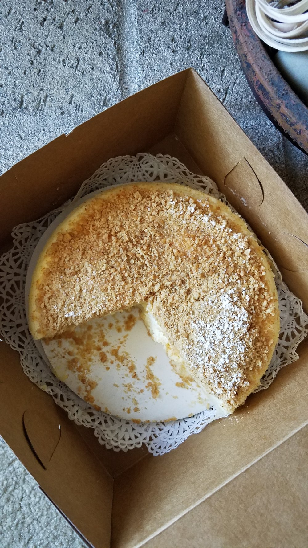 Zanze Cheesecake is amazingly creamy. My only criticism is that it is lacking a decadent graham cracker crust, which is one of my favorite parts of a cheesecake!