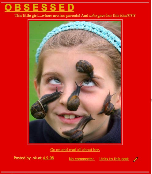 Image Source:  Schoolgirl smashes the world record as she lets 25 snails slide across her face