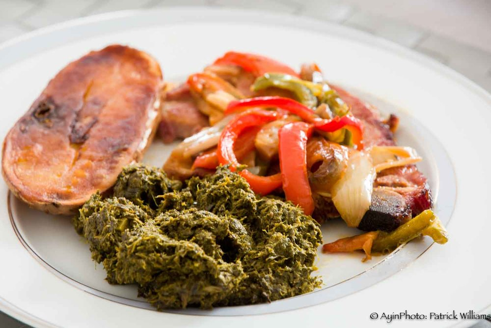 African - Congo dish with Manioc, Pork and Potato