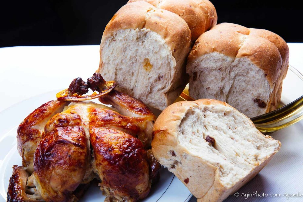 Smoked Jerk Chicken & Rasen Bread