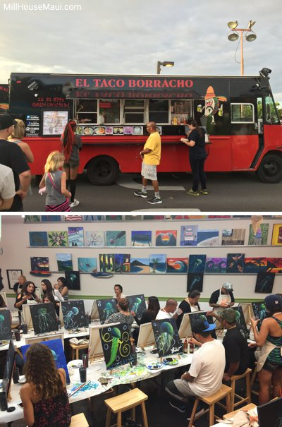 Island art Party and food trucks