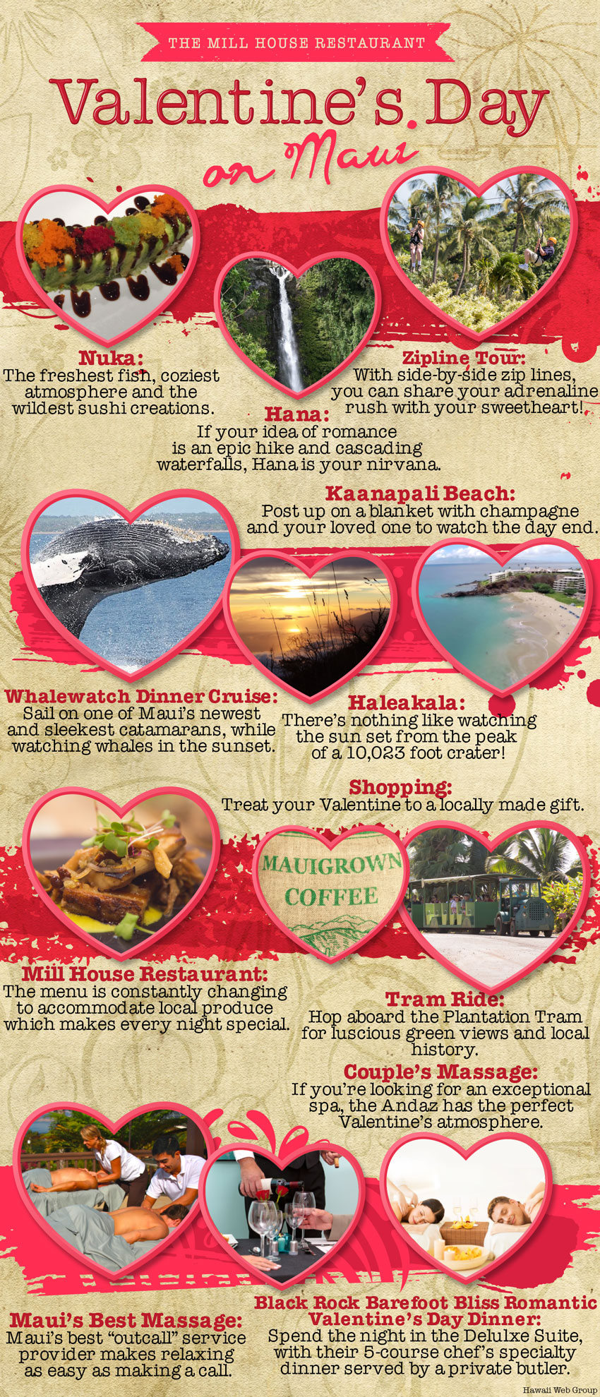 best ways to spend valentines day on maui infographic