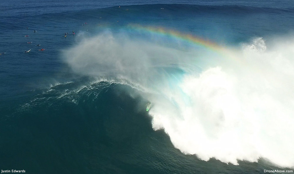 rainbow Hawaii surfing