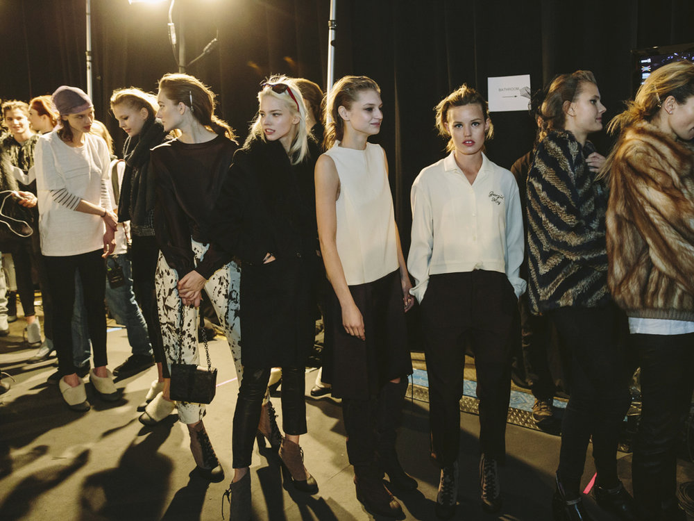 BACKSTAGE AT NEW YORK FASHION WEEK