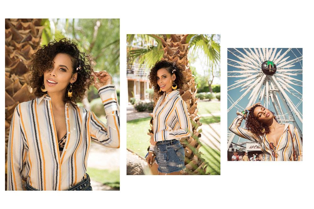Rochelle Humes / Coachella x ghd hair