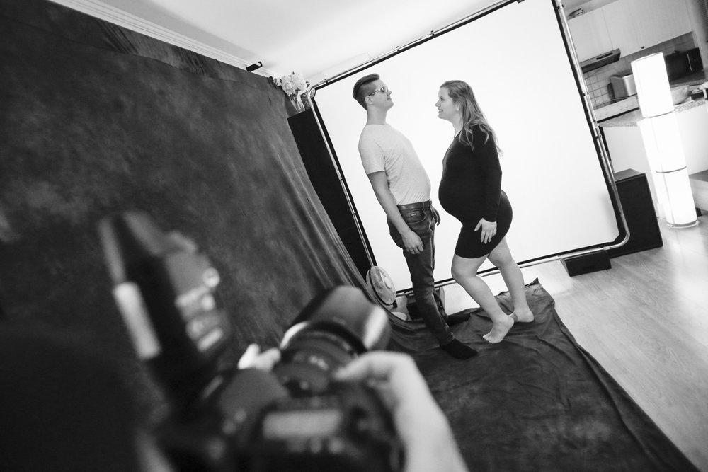 Behind the scenes fra fotograferingen med Emilie og Christoffer.