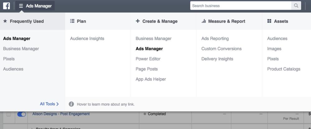 Facebook Ads Manager Pixel
