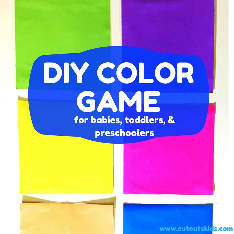 DIY Color Game for babies