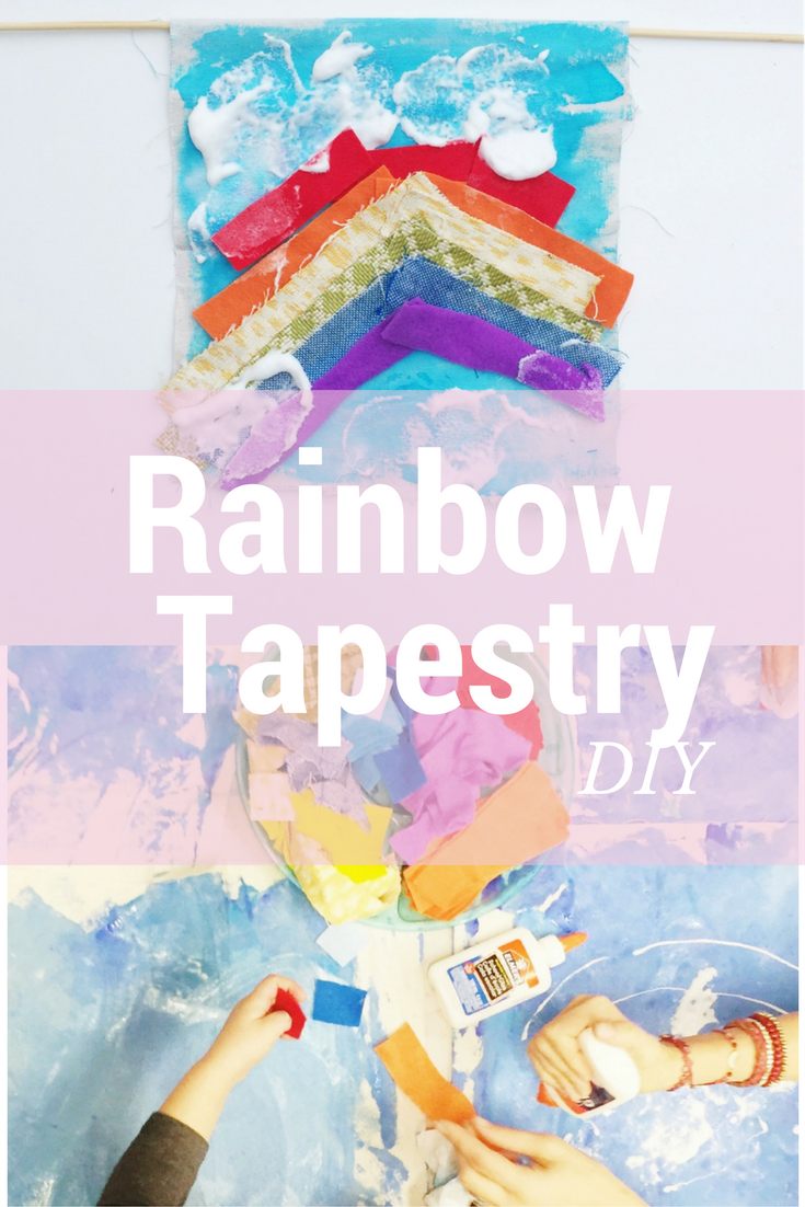 rainbow tapestry diy