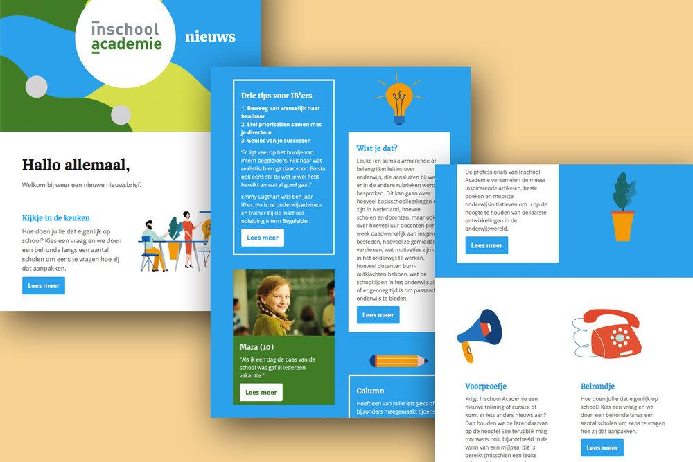en ook vormgever - Van schoolgids tot presentatie en van visitekaartje tot template voor je nieuwsbrief.Bekijk portfolio