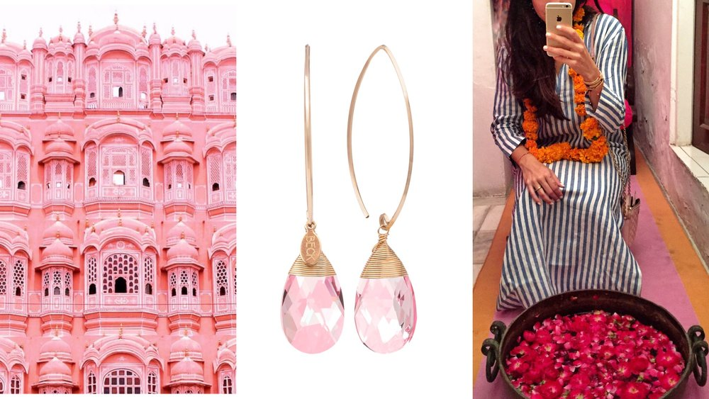 In 1876, the Prince of Wales and Queen Victoria visited India on a tour. Since pink denotes the color of hospitality, Maharaja Ram Singh of Jaipur painted the whole city pink in color to welcome the guests. It was then that Lord Albert exclaimed Jaipur to be a 'Pink City' ♡