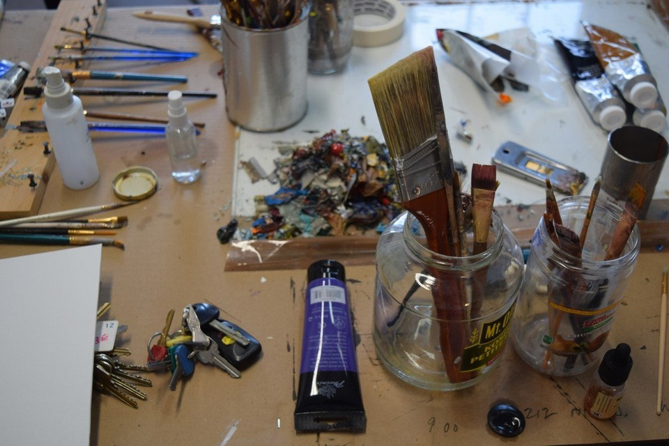 Some of Ray Larrow's tools in his studio. (Patrick O'Connor photo)
