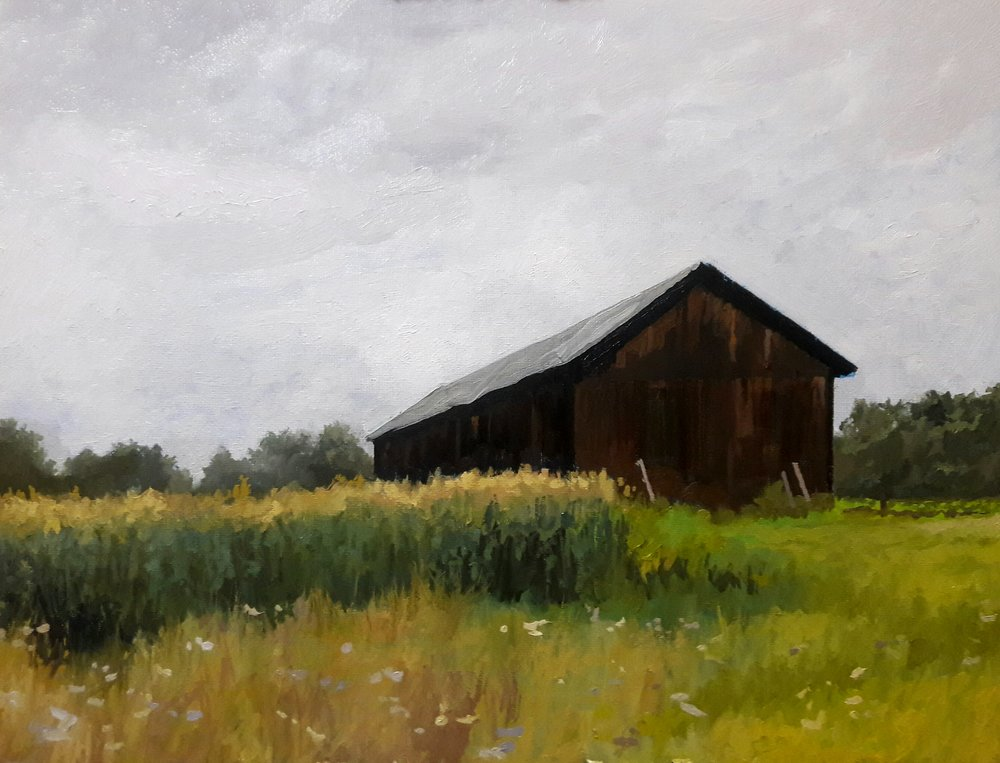 "Tobacco Barn     oil     11x14""     2018"