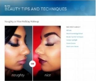 Blog Post: Naughty or Nice Holiday Makeup