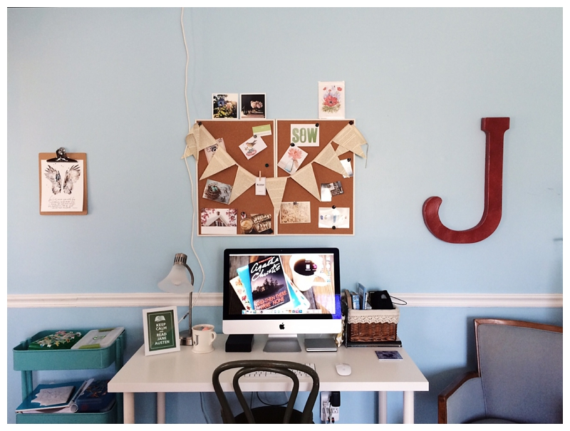 danielle ayers jones, freelance writer, creativity, creative mama, workspace