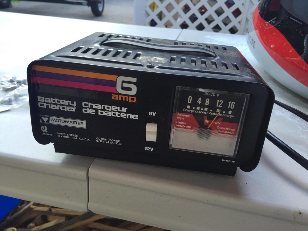A manual battery charger.  Sourced from CL to the tune of 15 bucks.