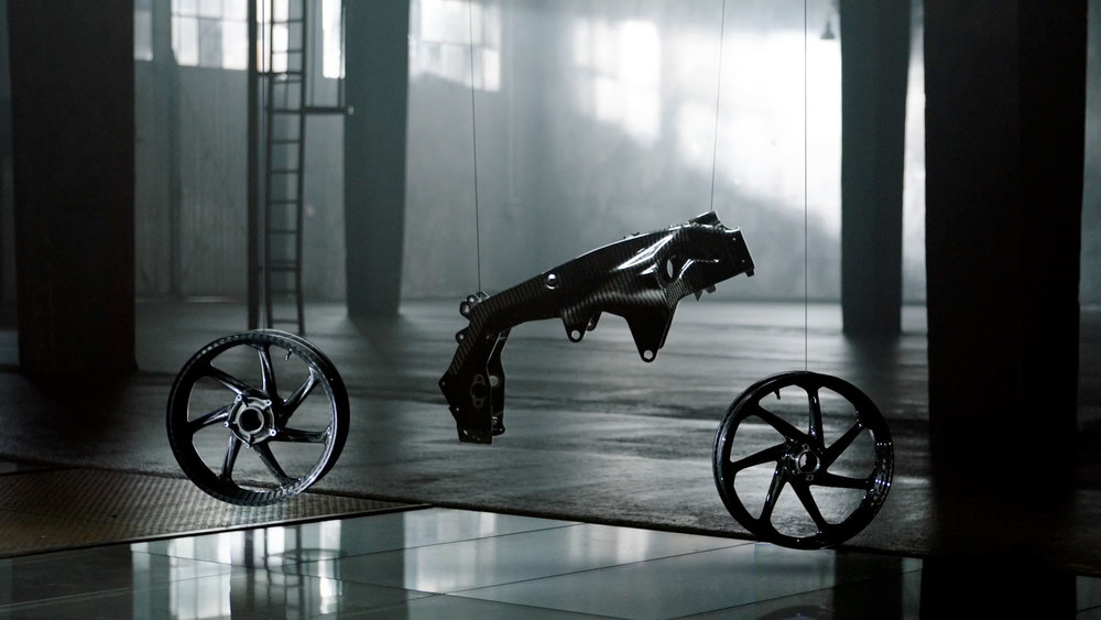 The nicest set of wheels ever produced for a motorbike.