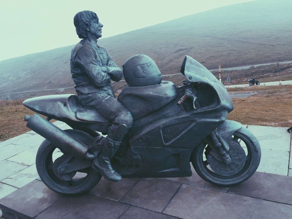 The legend himself, Joey Dunlop, dreaming of the Snaefell Mountain Course.