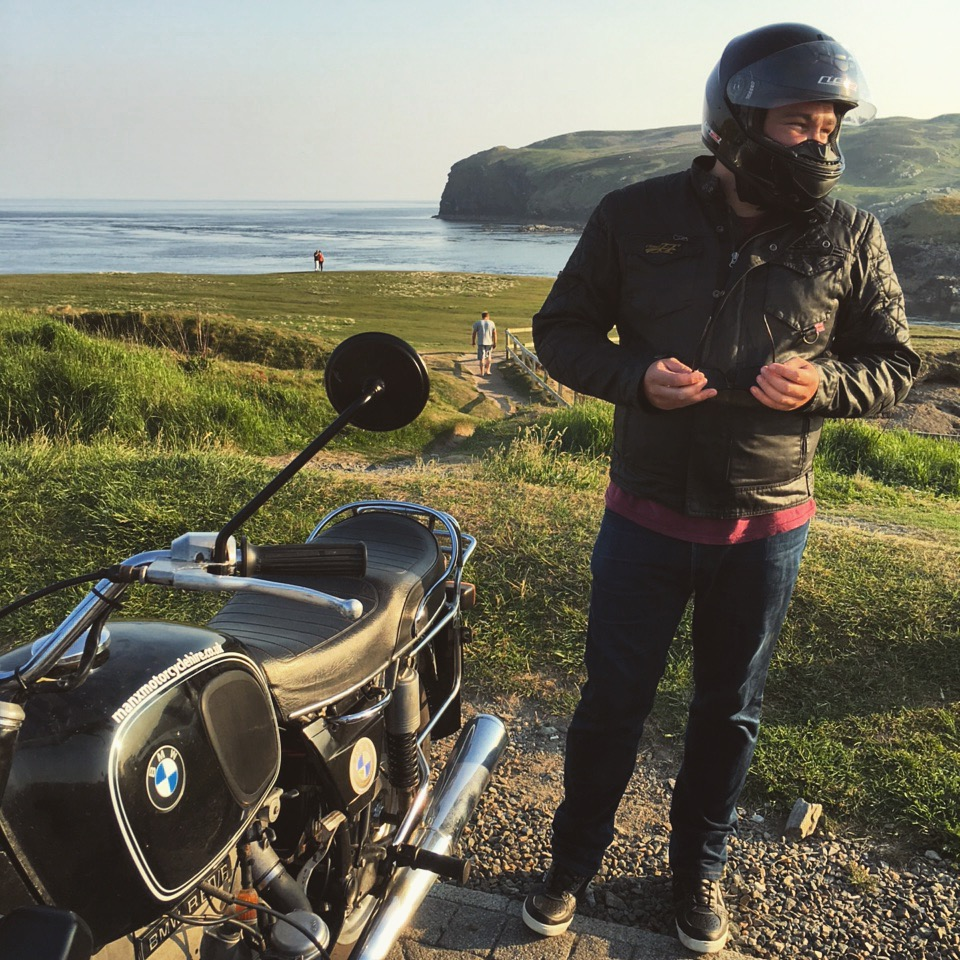 Myself, and the 1974 R60 I called my own for a fortnight.