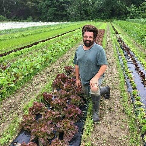 Matt of JAH'S CREATION certified ORGANIC farm