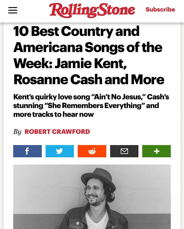 Our own Jamie Kent released a new single today, and Rolling Stone named it one of the Best Americana Songs to hear this week!!